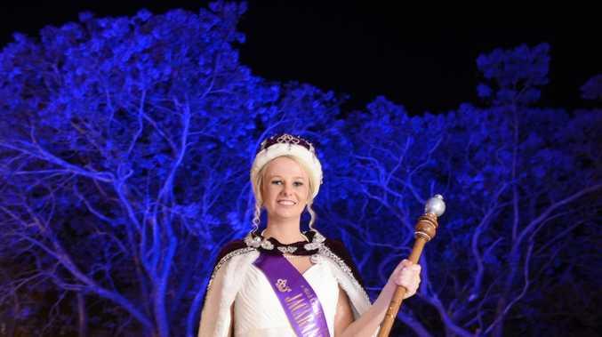 Jacaranda Queen Cerene Lowe at the 2013 Jacaranda Queen Crowning ceremony in Market Square Photo Adam Hourigan / The Daily Examiner