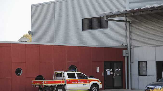 Firefighters put out an electrical equipment blaze at the Brolga Theatre on Saturday.