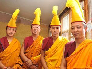 Monks end visit with ritual destruction of a week's effort