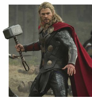 BRING IT ON: Chris Hemsworth in a scene from Thor: The Dark World.