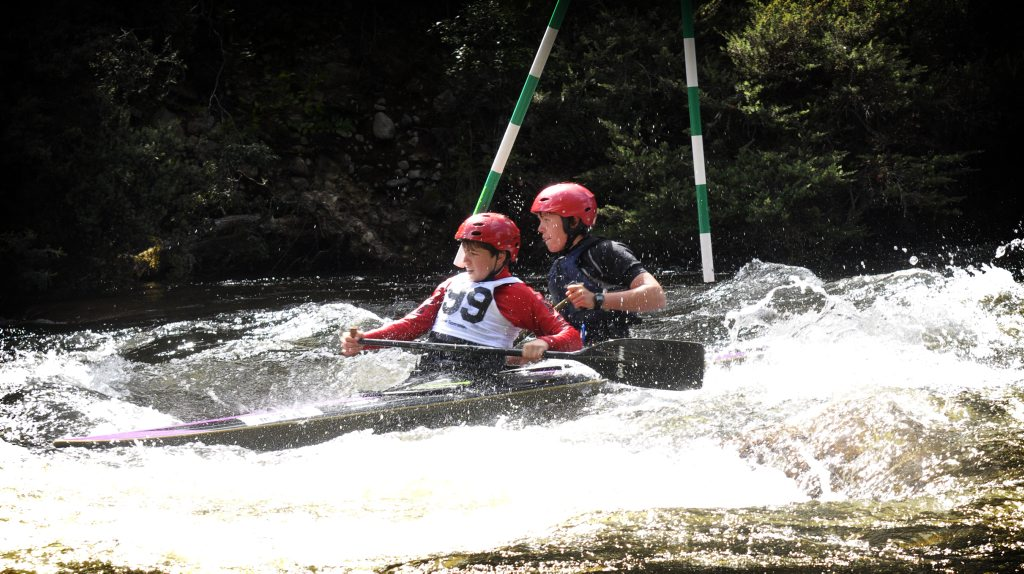 Nymboida kayakers, brothers Clayton and Sebastian Young chase the rapids at the Nymboida Canoe Centre. Photo Contributed NO RESALE