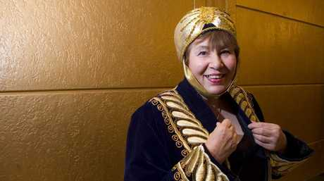 Jacqueline Young got dressed in a garment from Uzbekistan featuring Bukhara embroidery for A Festival of Russian Ballet at the Empire Theatre.
