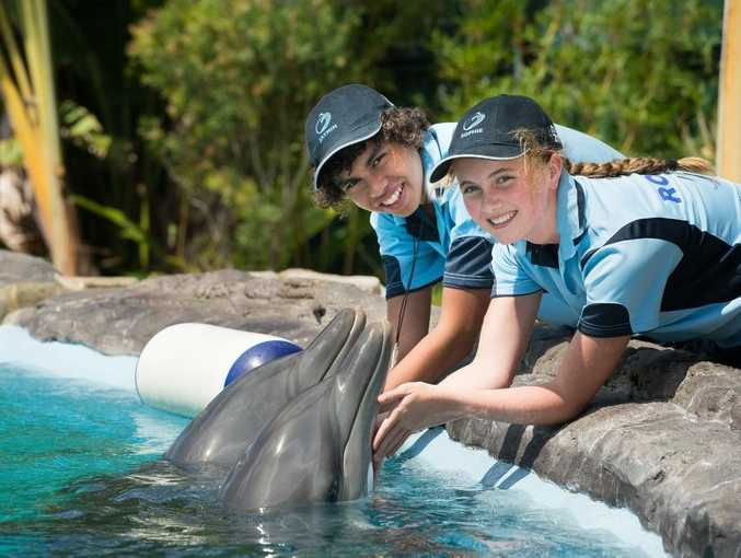 Marine magic becomes TV set. Pic young actors, Jaymin Hyland-Taylor from Coffs harbour, and Sophie O'Loughlin-Kennedy from Ireland. Photo: Trevor Veale / The Coffs Coast Advocate
