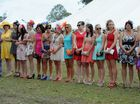 A long line-up of beauties competed in the Fashions of the Field at the Torbanlea Picnic Races.