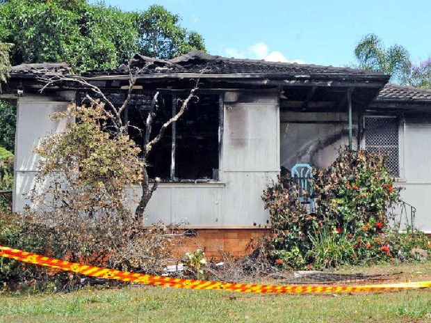 This house was gutted by fire on Monday morning around 12-30 am in Eggins place Goonellabah.