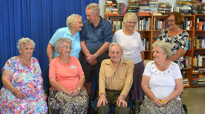 RSL Care Bicentennial retirement communuty members Mary Withers, Lillian Steele, Maureen Campbell, Jim Campbell, Alexander Baird, Marie Friend, Joan Penwarne and Jan Newton are set to celebrate.