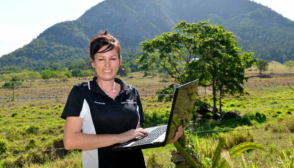 Based at Mount Jukes, Rachael Kenny of Arktic Airconditioning is happy with her NBN service.