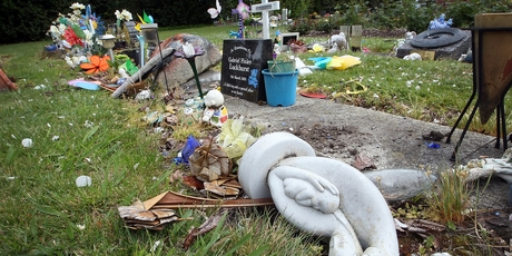 Vandals left a trail of destruction in the Sala St Cemetery over the weekend. Photo / Andrew Warner