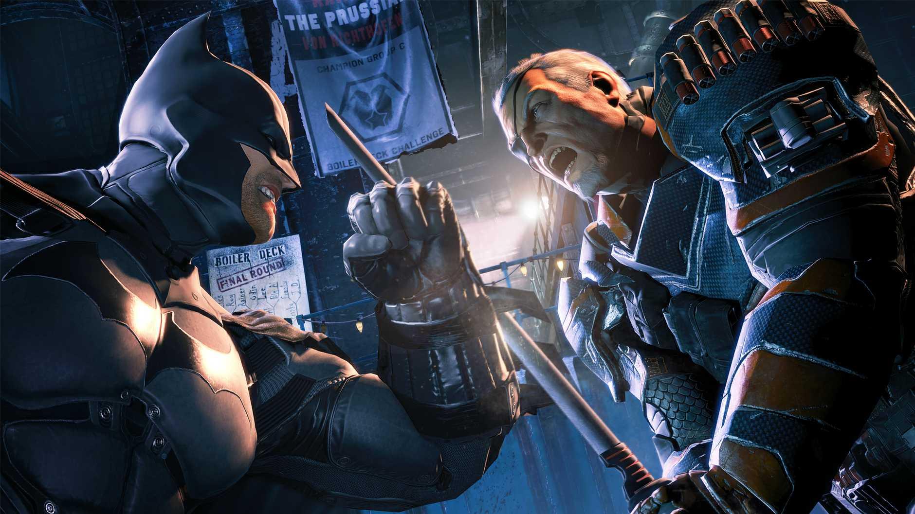 A screenshot from Batman Arkham Origins.