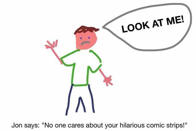 One internet user takes a jab at Facebook application Bitstrips.