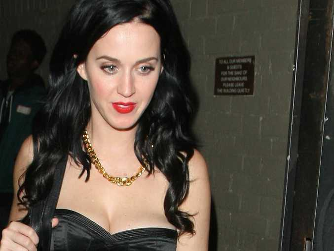 Katy Perry feels under pressure to be a role model because her peers are 'so naked'.