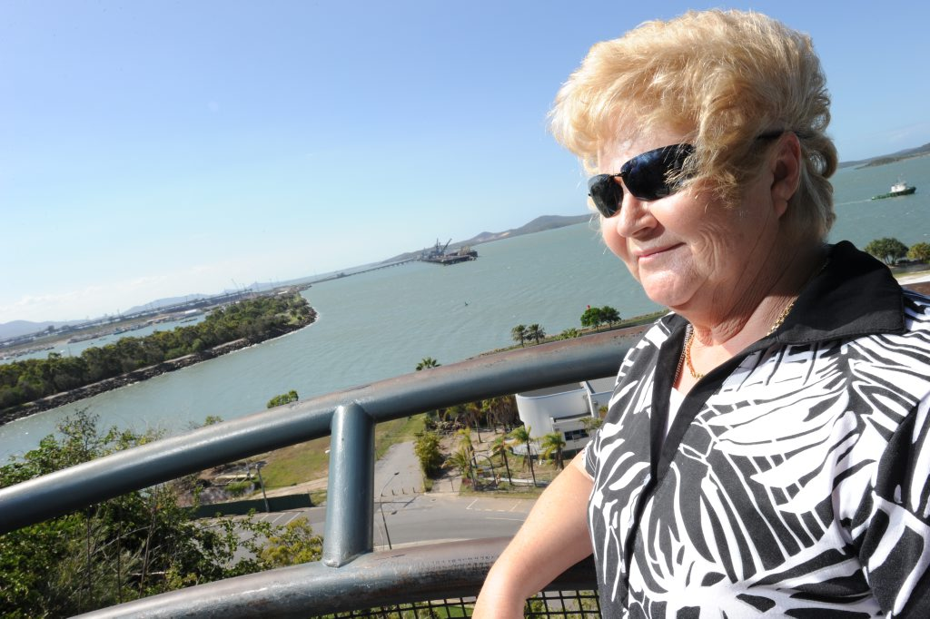 Cheryl Watson at the Auckland Point lookout, Gladstone.