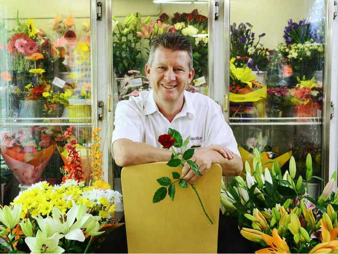 TOP MAN: Peter Bellingham of Ipswich Florist has been named chairman of Interflora Australia for the next two years.