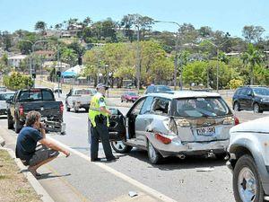 Two hurt as four vehicles crash on Dawson Hwy