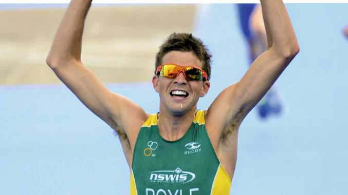 SWEET TURNAROUND: Australia's Aaron Royle wins the ITU Triathlon Under-23 World Championship in Auckland last year.