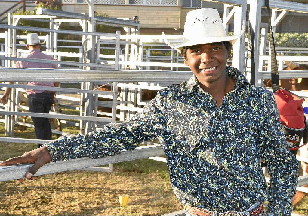 AMBITION: Former Kimberleys cowboy Sally Malay at the Warwick Rodeo.