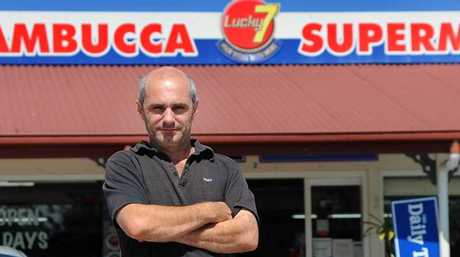 Mark Fenech calmly handled an attempted armed robbery at Nambucca's Lucky 7 supermarket this morning.