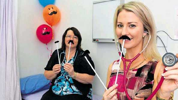 Dr Lynne Mulholland and Dr Stephanie Barnard, of Caneland Medical Centre, are happy to support Movember to encourage men and their partners to focus on keeping their health in check.