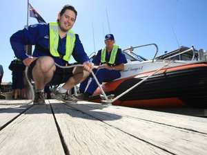 Recruits to the rescue at Point Danger Marine Rescue