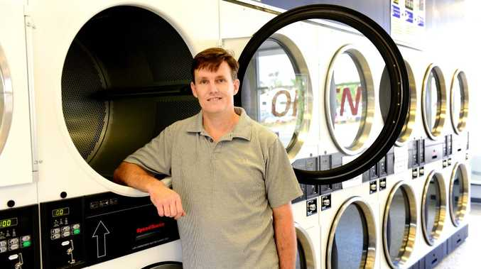 Robert Foster is the owner of a new laundromat on Queen Elizabeth Drive, Rockhampton. Photo Sharyn O'Neill / The Morning Bulletin