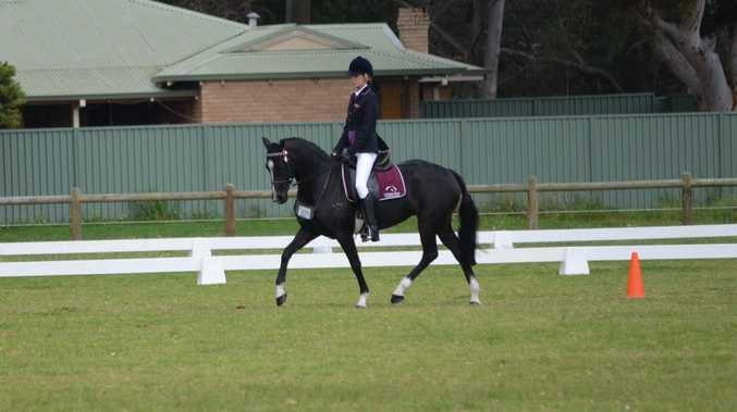 Glennie equestrian rider Jamie Rodda in action at the National Interschool Equestrian Championships.