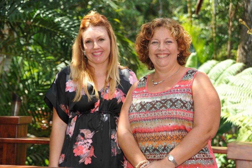 (left) Rebecca Mugridge and Karen Petfield at Daisy's Place, Glenview, for the Sun Coast Biz women's lunch. Photo: Iain Curry / Sunshine Coast Daily
