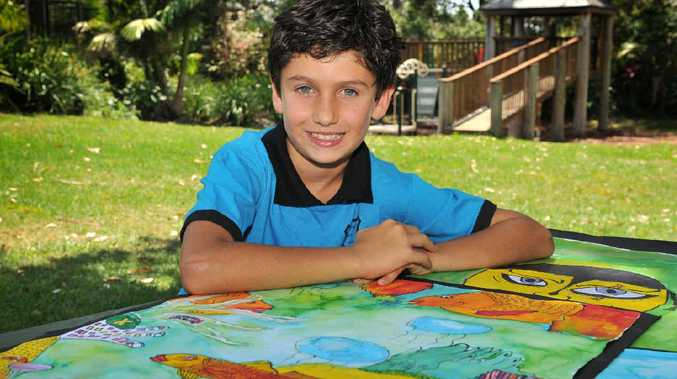 PAINTING A FUTURE: Andres Grez, of Goonengerry Public School, broke down barriers with his vibrant artwork, when he participated in the ARTSmart program.