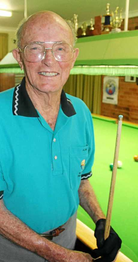 SNOOKER CHAMP: At the age of 90, Ballina's Allan Philp won the Ballina RSL Snooker Club's round- robin tournament recently.