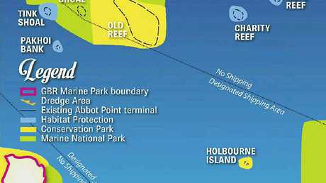 Abbot Point coal shipping map.