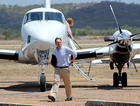 Federal Environment Minister Greg Hunt as he arrives in Bowen