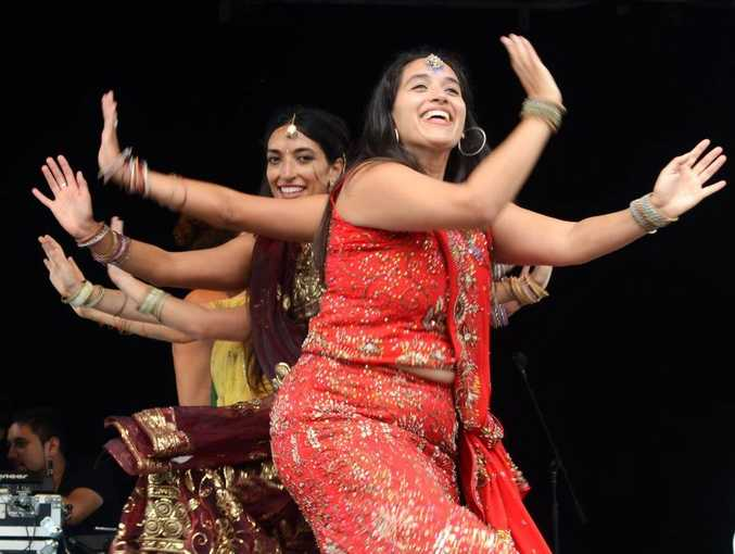 Bollywood Sisters dancing at the 2013 Curry Festival held at Woolgoolga. Photo: Leigh Jensen / Coffs Coast Advocate