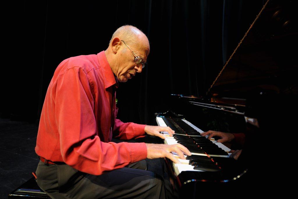Famous concert pianist David Helfgott rehearsing prior to performance at the Brolga Theatre. Photo: Robyne Cuerel / Fraser Coast Chronicle