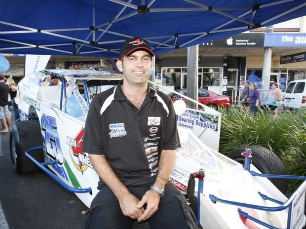 Andrew Pezzutti, of Sydney, pictured at the 2011 Australian V8 Dirt Modified Championships Street Carnival down Magellan St, Lismore CBD.