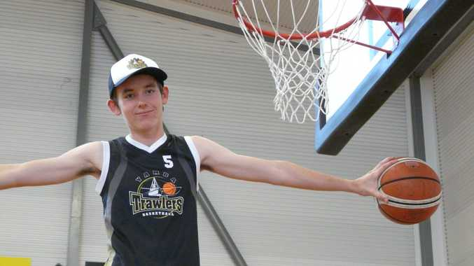 Yamba Trawler Henry Mayer has been selected to represent NSW Country under-15s despite playing basketball for only four months. Photo Contributed NO RESALE