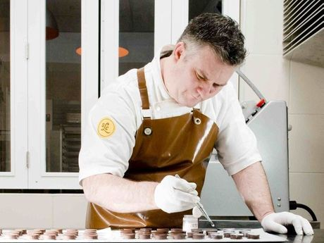 Brett Roy from Lowood competed in the World Finals at The International Chocolate Awards held in London. Photo: Contributed/ Jimmy Jeong