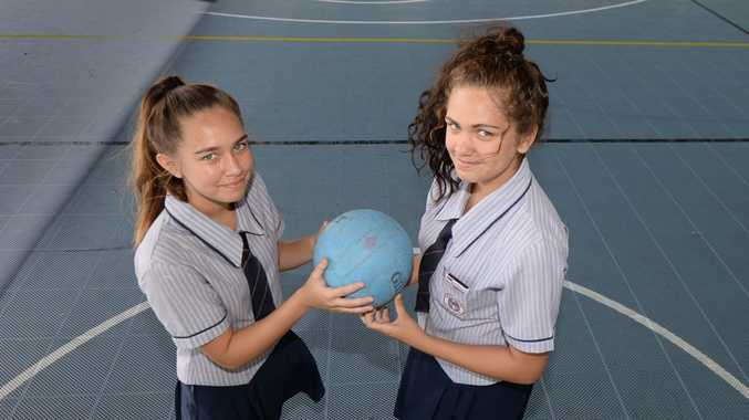 Sisters Riarna and Kiara Ferguson have both excelled in netball during this year's premier league competition. Photo: Chris Ison / The Morning Bulletin
