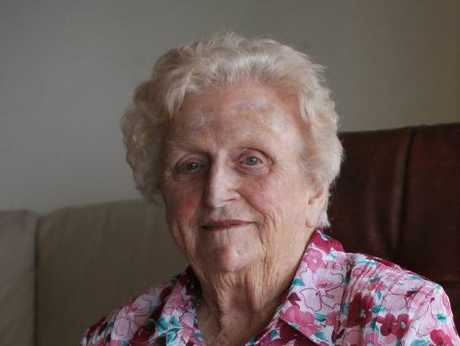 The wife of former Queensland premier Joe Bjelke-Petersen, Florence Bjelke-Petersen. The 93-year-old, affectionately known as Lady Flo, spoke to the Daily during her holiday at Alexandra Headland.