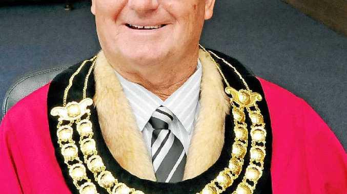 BIG EVENT: Mayor Ernie Bennett in full robes.