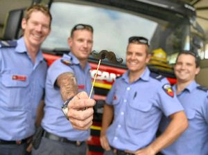 Gladstone firies mo-tivated to raise cash for men's health
