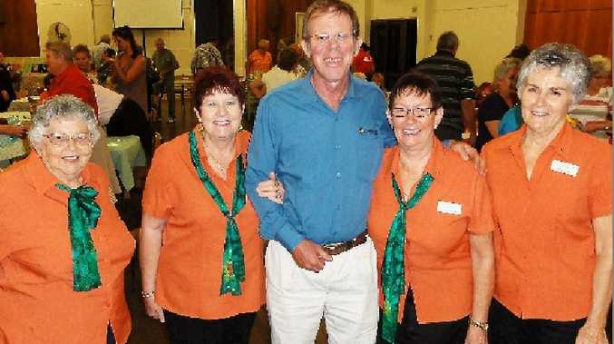 PARTNERSHIP: Attending the annual Scope Club of Mackay friendship dinner at St Charles Anglican Church Hall last week are, from left, Fay Rae, Maureen Wiseman, deputy chairman of Canegrowers Mackay Tony Ross and Ann Quinn.