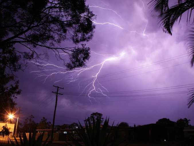 ELECTRIC VEINS: Recent storms around Bundaberg produced some great lightning shows. Photo: Paul Donaldson / NewsMail