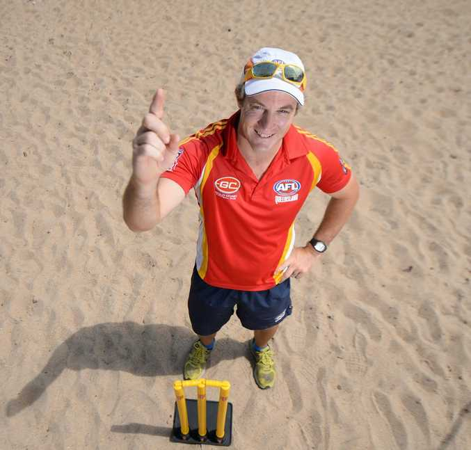 Scott Smithwick will umpire a cricket match between Australia and England on XXXX Island in the near future. Photo: Chris Ison / The Morning Bulletin