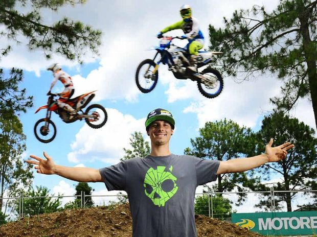 READY TO FLY: Queensland Supercross Championships event promoter Robbie Marshall hopes the competitors reach new heights tomorrow.