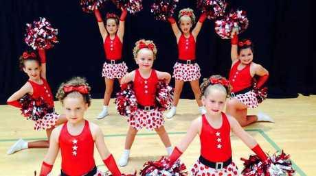 The winning Toowoomba City Cheerleaders.