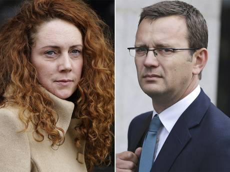 News of the World editors Rebekah Brooks and Andy Coulson