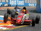 Liam Sager leads the field in the Formula Ford championship at the Gold Coast, where he won all three races.