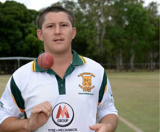 Gracemere Bulls spin bowler Justin Peacock plays for Central Queensland on Saturday.