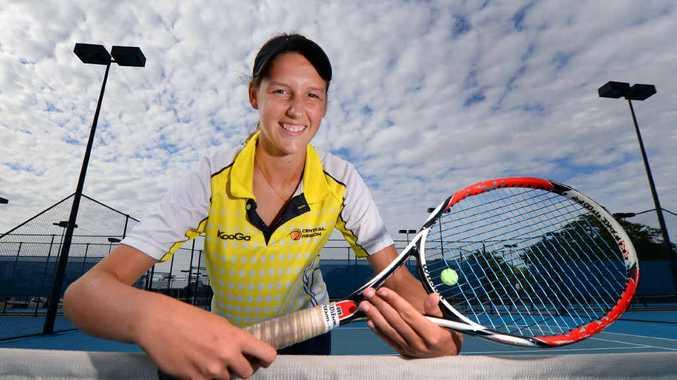 Junior tennis player Brittany Zipf won the 2013 Medibank Queensland Junior Development series state finals.