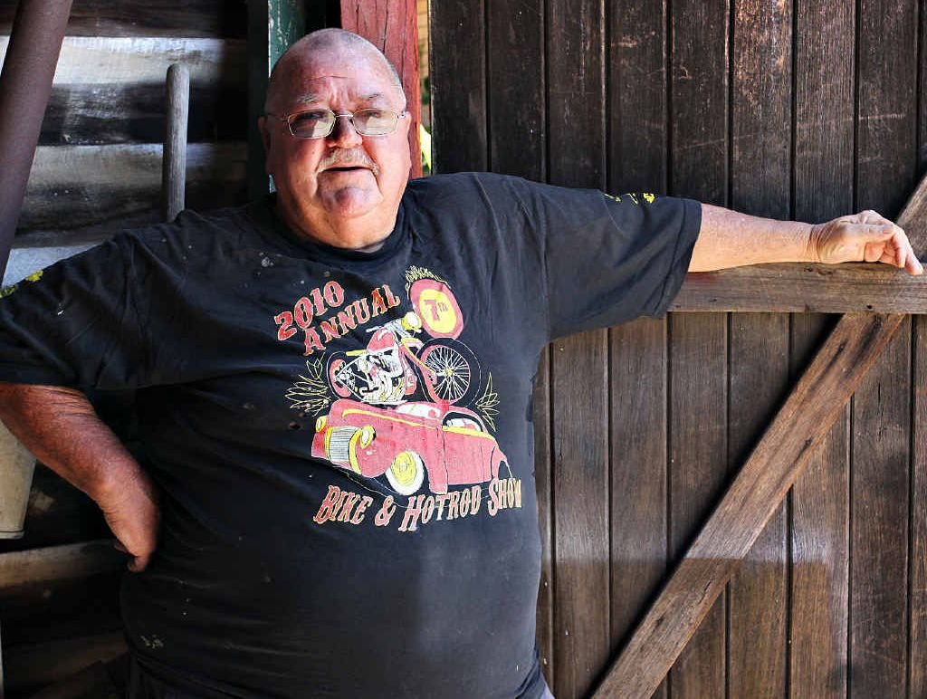 RISKING JAIL: Attorney-General Jarrod Bleijie's office says Caloundra's David Souter could land in hot water for wearing this t-shirt he bought at a bike and hotrod show run by the Bandidos.