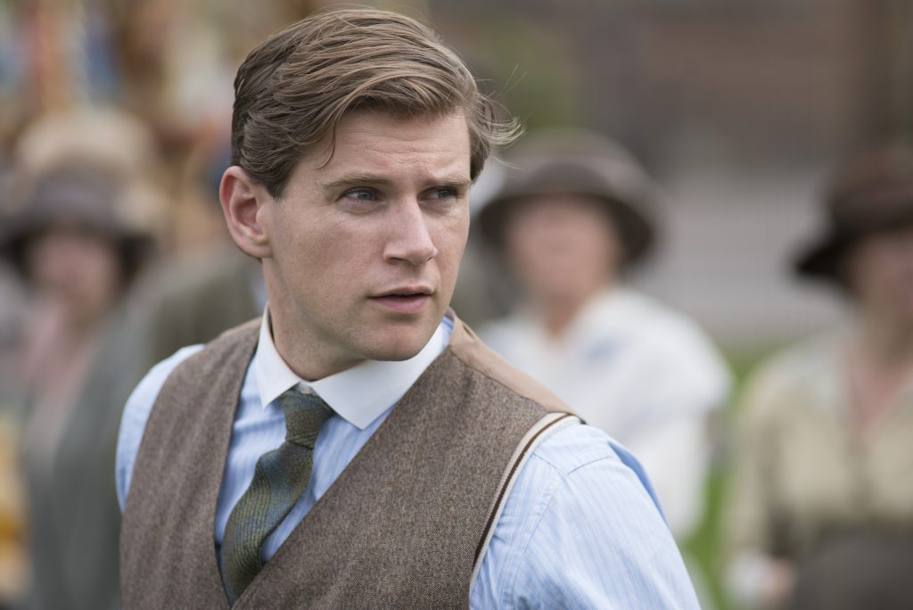 Allen Leech in a scene from the TV series Downton Abbey. Supplied by Channel 7.
